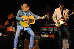 Dwight Yoakam - Country Singer & Legend. His lead guitar player Eugene Edwards to his left.