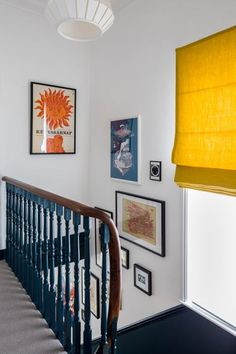 Interior Design by Imperfect Interiors at this Victorian Villa in London. A palette of contemporary Farrow & Ball paint colours Interior Garden, Interior Design, Interior Colour Schemes, Victorian Terrace Interior, Landing Decor, Hallway Colours, Wall Paint Colours, Hallway Colour Schemes, Yellow Hallway