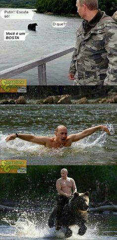 Internet-Hype: Wladimir Putin ist der neue Chuck Norris Internet hype: Vladimir Putin is the new Chuck Norris Memes Humor, Funny Jokes, Hilarious, Funny Images, Funny Photos, Putin Funny, Russian Memes, Funny Russian, Russian Ladies