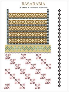 See the source image Embroidery Sampler, Folk Embroidery, Embroidery Patterns, Cross Stitch Samplers, Cross Stitch Patterns, Moldova, Beading Patterns, Pixel Art, Diy And Crafts