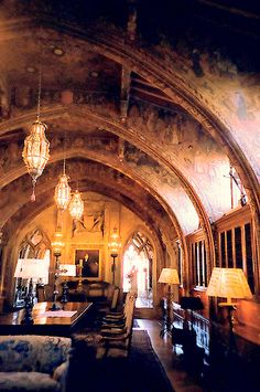 Now this is a home office! Hearst Castle - home office (gothic study). Click through for more pictures from the Hearst Castle.