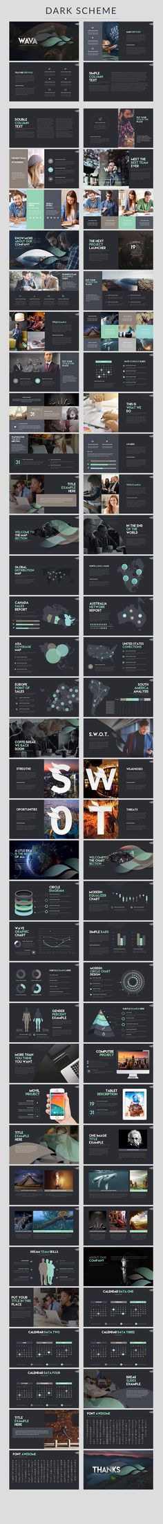 Explore more than presentation templates to use for PowerPoint, Keynote, infographics, pitchdecks, and digital marketing. Web Design, Slide Design, Layout Design, Graphic Design, Powerpoint Design Templates, Keynote Template, Creative Powerpoint, Keynote Design, Brochure Design