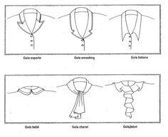 desenhos de golas femininas - Pesquisa Google