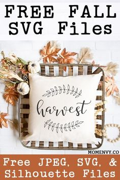Free Fall Printables - 3 Free Farmhouse Prints and SVGs Silhouette Cameo Projects, Silhouette Design, Silhouette Files, Free Silhouette, Fall Projects, Vinyl Projects, Craft Projects, Cricut Tutorials, Cricut Ideas