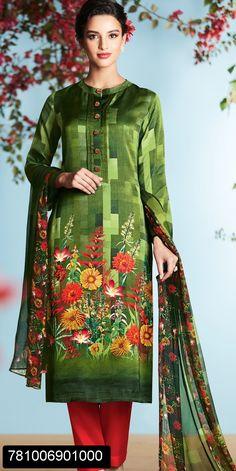 Digital Printed salwar suit for women with chiffon digital printed dupatta