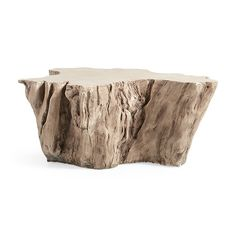 """Shop the ROOT OUTDOOR 52"""" BLEACHED COFFEE TABLE at Arhaus."""
