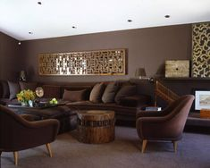 Living Room Colors With Dark Furniture Earth Beautiful Living Rooms Featuring Comforting Earth Tones. Natural Color Earth Colors - In Brown Living Room . Living Room Decor Brown Couch, Living Room Paint, New Living Room, Living Room Modern, Living Spaces, Living Room Color Schemes, Living Room Colors, Living Room Images, Living Room Designs