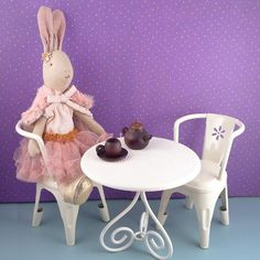 Maileg Cafe Table and Mini Rabbit