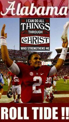 Thru Jesus Christ . Crimson Tide Football, Ohio State Football, Alabama Crimson Tide, American Football, Jalen Hurts, Football Memes, Football Season, Thing 1, Florida State Seminoles