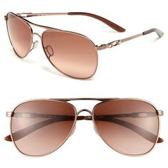Oakley Gradient Lens Aviator Sunglasses ❤ liked on Polyvore