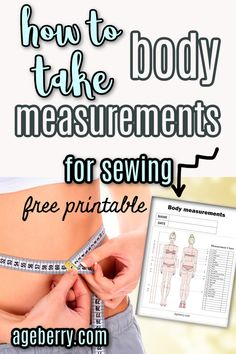 Video sewing tutorial: measure for sewing clothes like a pro with this YouTube video tutorial. Download the free body measurements chart. Learn how to take body measurements for sewing so you can choose the correct sewing pattern size for your body. #sewingtutorials #sewingtips #diyclothes #sewingpatterns Sewing Hems, Sewing Pockets, Sewing Elastic, Sewing Pants, Sewing Clothes, Sewing Tutorials, Sewing Projects, Sewing Patterns, Sewing For Dummies