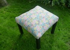 Quilting Buttercup: How to turn a small coffee table into an upholstered stool