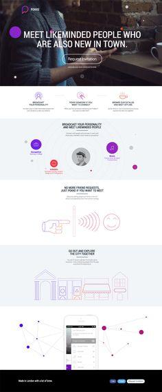 Pokke colorful modern web design website graphic color flat 3d ui ux graphics inspiration
