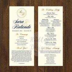 Wedding Programs Ceremony Program Ideas Sample Fans Weddin