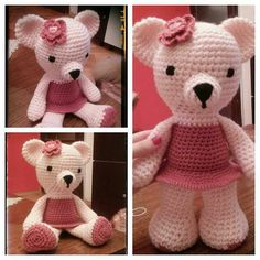 My first Teddy Bear amigurumi lady :))