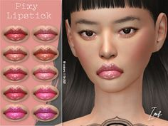 Pixy Lipstick contains 10 colors in hq texture. Found in TSR Category 'Sims 4 Female Lipstick' The Sims 4 Download, Sims Resource, Electronic Art, Lip Gloss, Eyelashes, Pixie, Lipstick, Makeup, Pretty