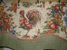 rooster curtains photo 5 of 9 french country valance curtain cream rooster sage check lined trim valance curtains lace rooster kitchen curtains waverly rooster toile curtains French Country Kitchens, French Country Cottage, French Countryside, French Country Style, Countryside Decor, Country Charm, Country Living, French Country Curtains, Country Valances