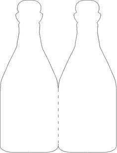 Wine bottle card template