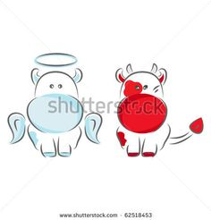 Cow Angel and Devil My daughter would probably get this... when she's older - much older - of course. :-)