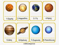 ΟΙ ΠΛΑΝΗΤΕΣ ΤΟΥ ΗΛΙΑΚΟΥ ΜΑΣ ΣΥΣΤΗΜΑΤΟΣ ~ Los Niños Space Classroom, Classroom Themes, Space Projects, Projects To Try, Planet Sun, Earth From Space, Solar System, Astronomy, Crafts For Kids