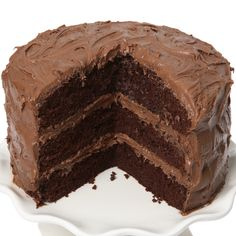 This triple chocolate cake recipe is topped with a thick and creamy cream cheese chocolate frosting.. Triple Chocolate Cake  Recipe from Grandmothers Kitchen.