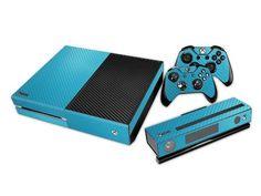 HelloDefiance, Light Blue Carbon Fiber Skin - Xbox One Protector, best, HelloDefiancecheap