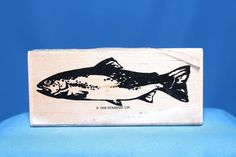 Large Trout Fish 1998 Stampin' Up! Wood & Foam Backed Rubber Stamp           http://autopartspuller.com/ Great Sale 50% off entire store!! Copper, Glassware, Wood Crafts, Scrap Booking   Also Find us on:  http://hometownvintage.com http://autopartspuller.com @HomeTownVintage @autopartspuller @preppershowto http://facebook.com/hometownvtg http://facebook.com/AutoPartsPuller