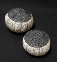 Kunst Objekt Raku Keramik - Samenkapsel...