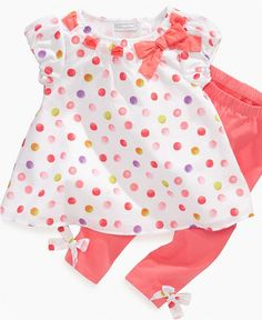 First Impressions Baby Set, Baby Girls Multi-Dot Tunic and Leggings Set - Kids - Macy's