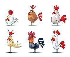 Chicken Concept by Saleh Ahmed on ArtStation. Bird Drawings, Cartoon Drawings, Cute Drawings, Animal Drawings, Chicken Drawing, Chicken Painting, Chicken Crafts, Chicken Art, Chicken Coup