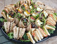 Brunch sandwich platters pinteres from coffees to egg and bacon rolls sandwich platters to hot food altavistaventures Images