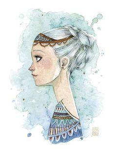 Esther Gili ilustración acuarela Emperatriz Infantil