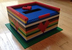 "Lego Valentine's box - my son won ""Most Creative"" in his 3rd grade class"