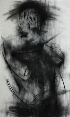 [90] untitled charcoal on canvas 162 x 96 cm 2013 on Drawing Served