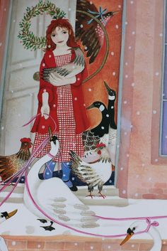 Jane Ray: Mischief, Magic and Mayhem: The Twelve Days of Christmas Ill. Book Illustrations, Children's Book Illustration, Twelve Days Of Christmas, Christmas Illustration, Winter Solstice, Vintage Ephemera, Holiday Festival, Yule, Folklore