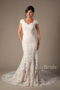latter day bride lace dress Violetta