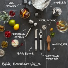 Entertaining over the holidays? Here are a few tools to mix, muddle and shake like the pros.