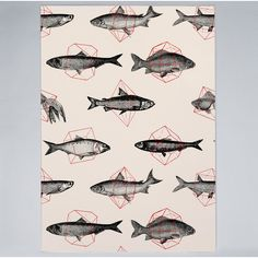 Shop for Noir Gallery Geometric Fish Animal Pattern Unframed Art Print/Poster. Get free delivery On EVERYTHING* Overstock - Your Online Art Gallery Store! Red Shower Curtains, Wall Art Prints, Poster Prints, Art Texture, Abstract Styles, Metal Wall Art, Online Art Gallery, Geometric Shapes, Fisher