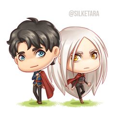 Manon and Dorian :3 You can get them as magnetic bookmark at @designsbytheia soon. Stay tuned! ❤️ Prints/stickers are available on my Redbubble.