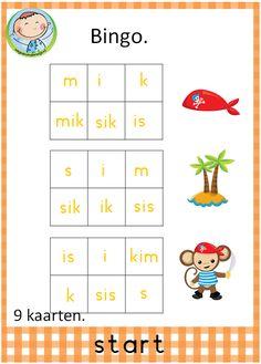 Spellenpakket start. Prachtig pakket met 12 verschillende spelletjes. Goed te gebruiken bij VLL kim versie.Bingo spel. Met 9 verschillende kaarten. Becoming A Teacher, Class Activities, Creative Teaching, First Grade, Spelling, Homeschool, Classroom, Letters, Reading