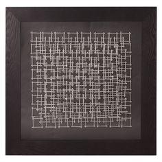 Howard Elliott Collection - Abstract Silver Nail Art Wall Art