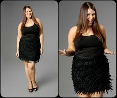 City Chic fringe skirt