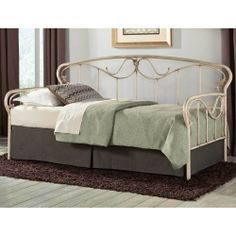 Verona Iron Daybed by Fashion Bed Group | Wrought Iron Daybed Pop-Up Trundle Complete Set