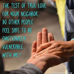 Love #God and love your neighbor as yourself — the two sides of Jesus' Greatest Commandment go together so that you can't truly do one without the other (Mark 12:30-31).
