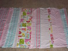 GOOD STEPS ON THIS ONE!  Just Four Sisters: Girly Rag Quilt Tutorial