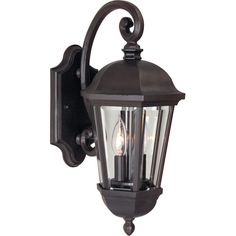 Features:  -Britannia collection.  -Number of lights: 2.  -Oiled bronze finish.  -Clear beveled glass.  -Die cast aluminum composition.  -Accommodates: 2 x 60W Candelabra base bulbs (not included).  F