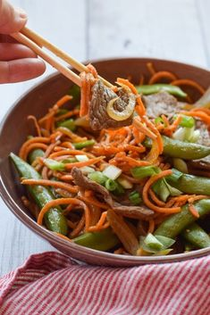 Sweet Potato Noodle Stir-Fry With Steak | 19 Veggie Noodle Recipes Even Hardcore Pasta Lovers Will Adore