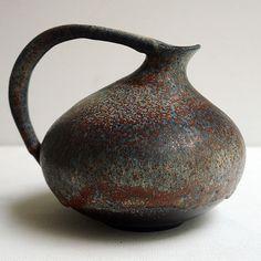 Ruscha 313 Vase Kurt Tschöner West German Art Pottery Fat Lava Scheurich Pottery Vase, Ceramic Pottery, Farmhouse Pottery, Vase Shapes, Fairy Godmother, Flasks, Ceramic Artists, Pottery Ideas, Decoration