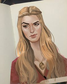 Drew Cersei Lannister coz she crazy - Game of Thrones Cersei Lannister, Dessin Game Of Thrones, Game Of Thrones Art, Game Of Thrones Cersei, Game Of Thrones Instagram, Character Art, Character Design, Game Of Trones, My Champion