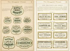 A bit of antique label typography